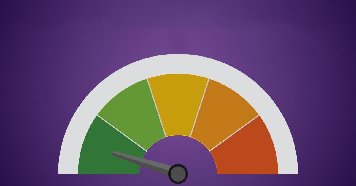 Risk Tolerance Tracker gauge showing low tolerance